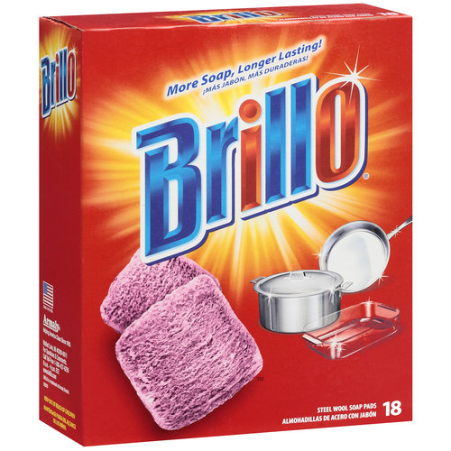 Brillo Steel Wool Soap Pads, 18ct