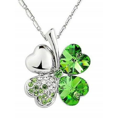 86abb183ad9a9 Swarovski Crystal Shamrock Necklace