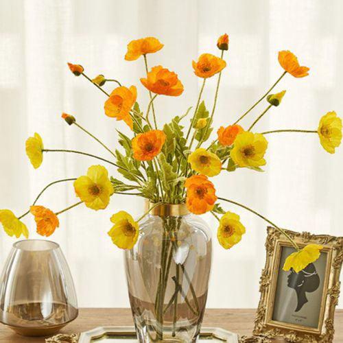 Artificial Poppy Flower Bouquet