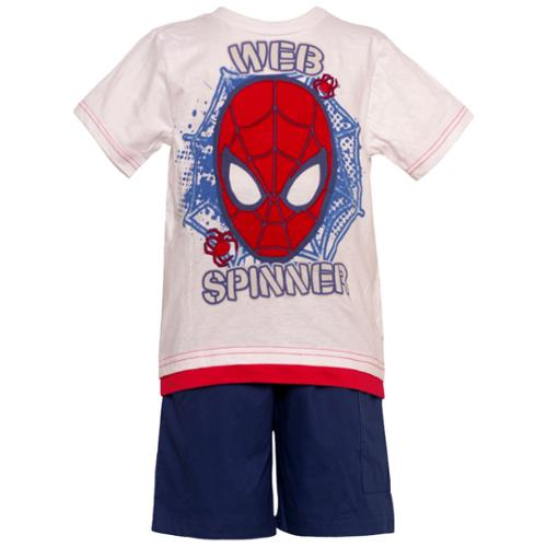 "Andy Miller Baby Boys Red ""Web Spinner"" Spiderman Top 2 Pc Shorts Set 12M"