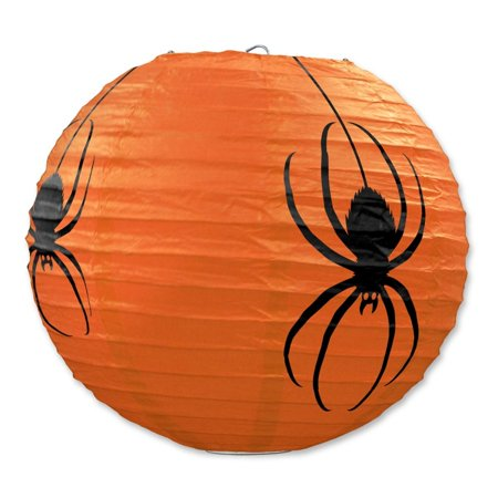 Club Pack of 18 Halloween Spider Hanging Paper Lantern Party Decorations 9.5