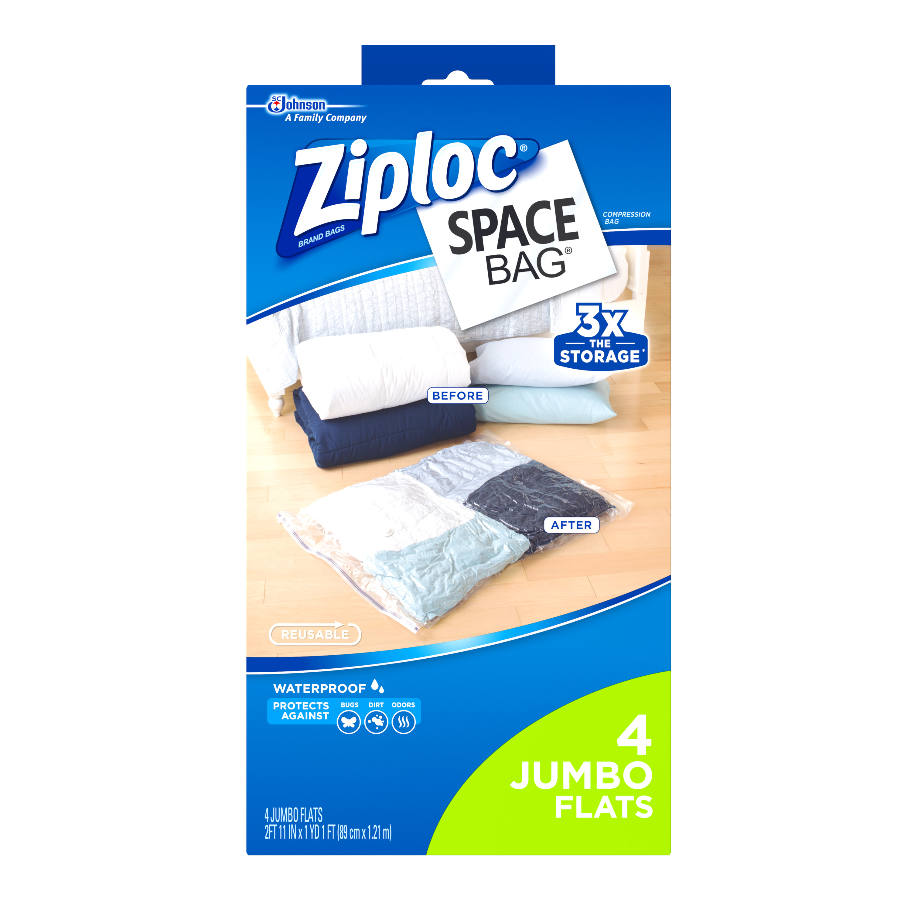 Ziploc Space Bag Vacuum Bag Jumbo 4 count - Walmart.com
