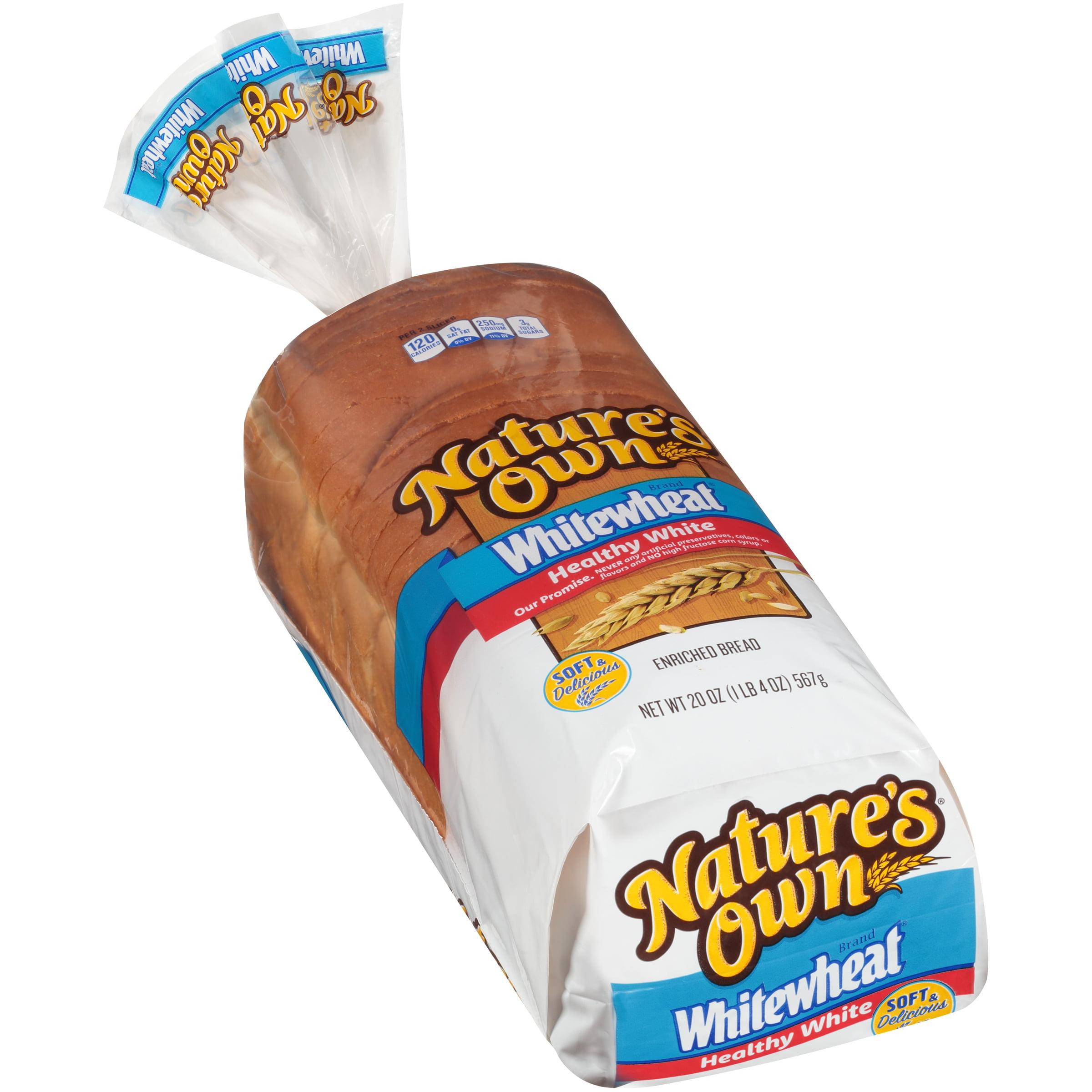 Nature S Own Whitewheat Healthy White Bread 20 Oz Loaf Walmart Com Walmart Com