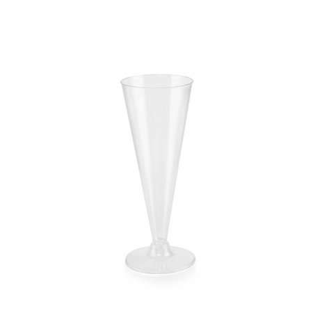 BalsaCircle Clear 12 pcs 7 oz Disposable Plastic Drink Flutes Glasses - Wedding Reception Party Buffet Catering Tableware