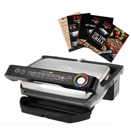 T fal gc704 optigrill with recipe book indoor electric grill removable ceramic plates - Health grill with removable plates ...