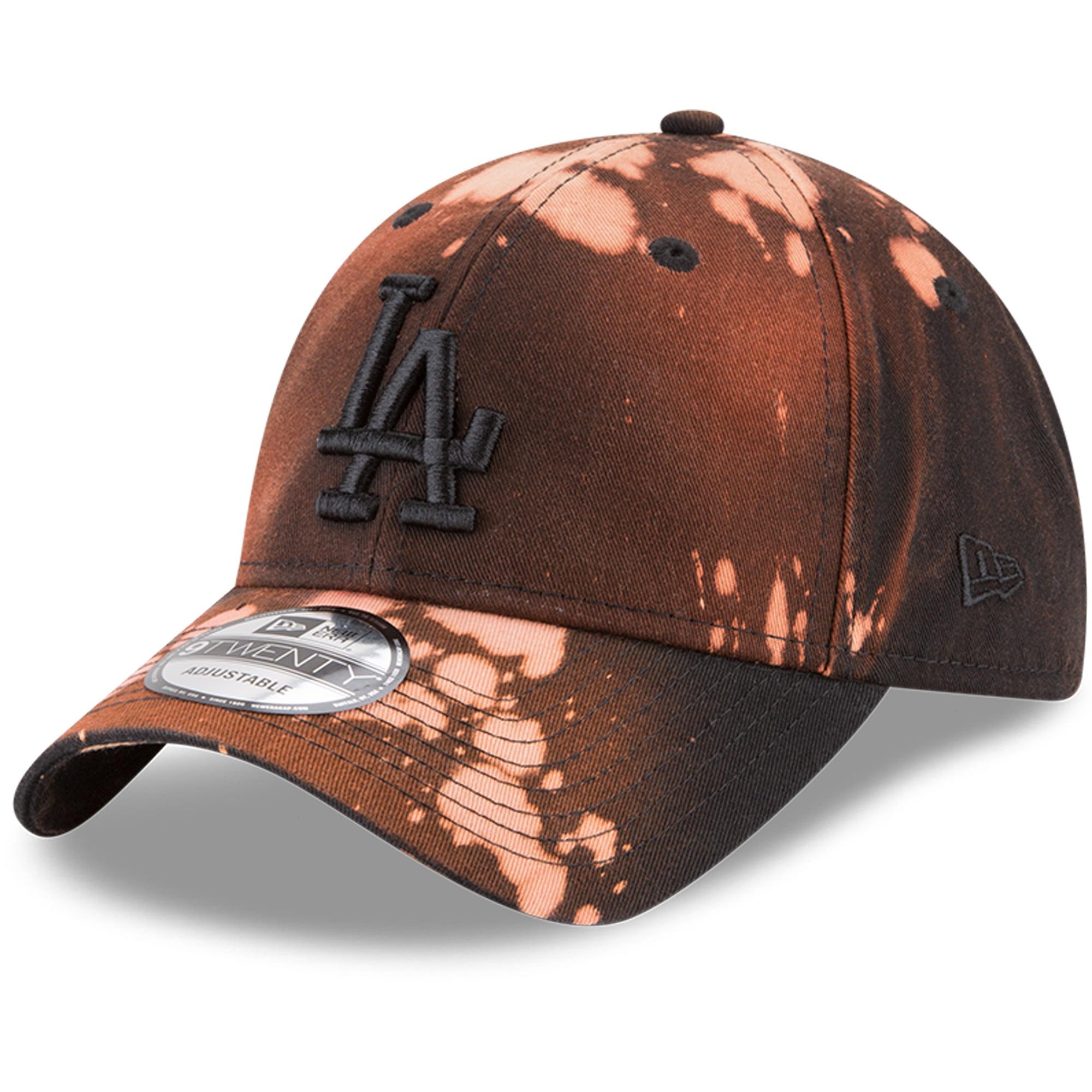 Los Angeles Dodgers New Era Bleached Out 9TWENTY Adjustable Hat - Black - OSFA