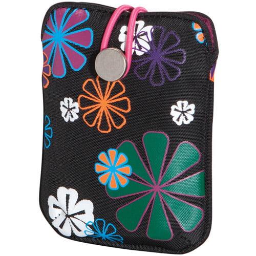 FUJIFILM 600012059 Camera Slip Case (Black Flower Power)