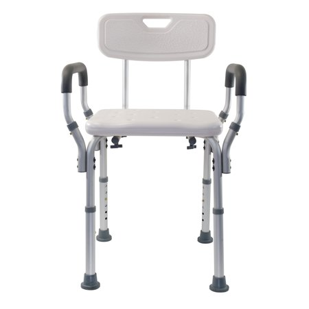 Essential Medical Supply Adjustable Molded Shower Chair with Arms & Back ()