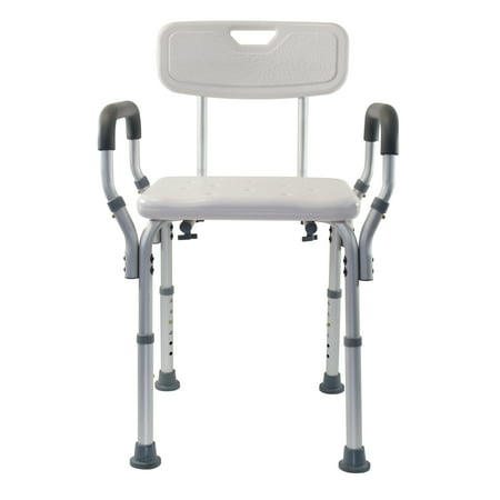 Essential Medical Supply Adjustable Molded Shower Chair with Arms & Back