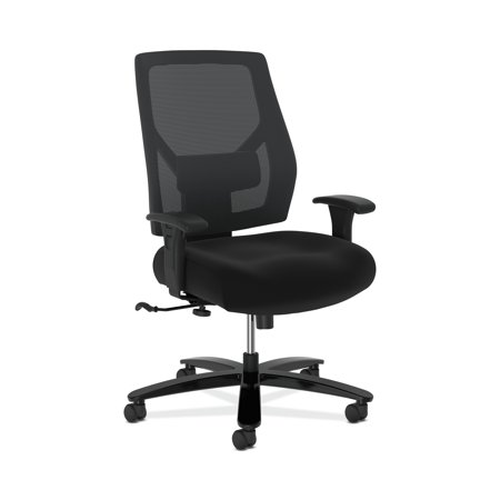 HON Crio High-Back Big and Tall Chair - Fabric Mesh Back Computer Chair for Office Desk, Black