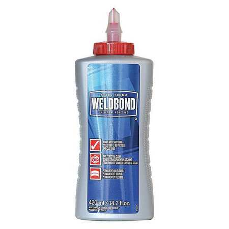 WELDBOND 058951504207 Glue,14.2oz,Multipurpose,White,Low VOCs G3957381 by Frank T Ross & Sons Inc.