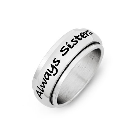 Always Sisters Forever Friends Stainless Steel (Best Friend Rings For Sale)