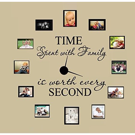 TIME SPENT WITH FAMILY WITH WORTH EVERY SECOND #3, WALL DECAL, HOME DECOR 6 - Wall Decor Cheap