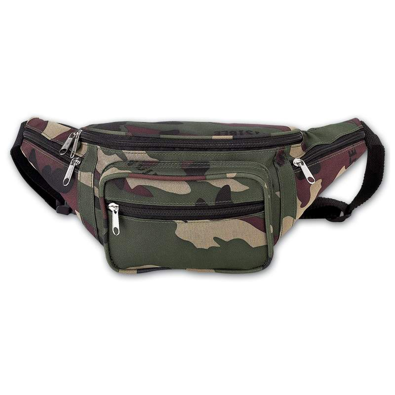 LUCAMWB Extreme Pak Invisible Pattern Camo Water Repellent Waist Bag