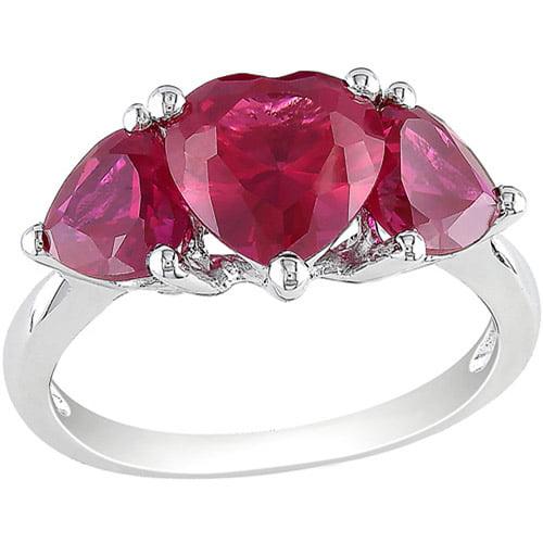 4-4/5 Carat T.g.w. Heart-shaped Ruby Fas