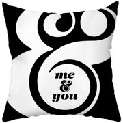 Checkerboard, Ltd Me and You Throw Pillow