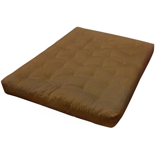 Gold Bond 624 7 in. Feather Touch I 21 x 39 in. Microfiber Mattress, Chocolate