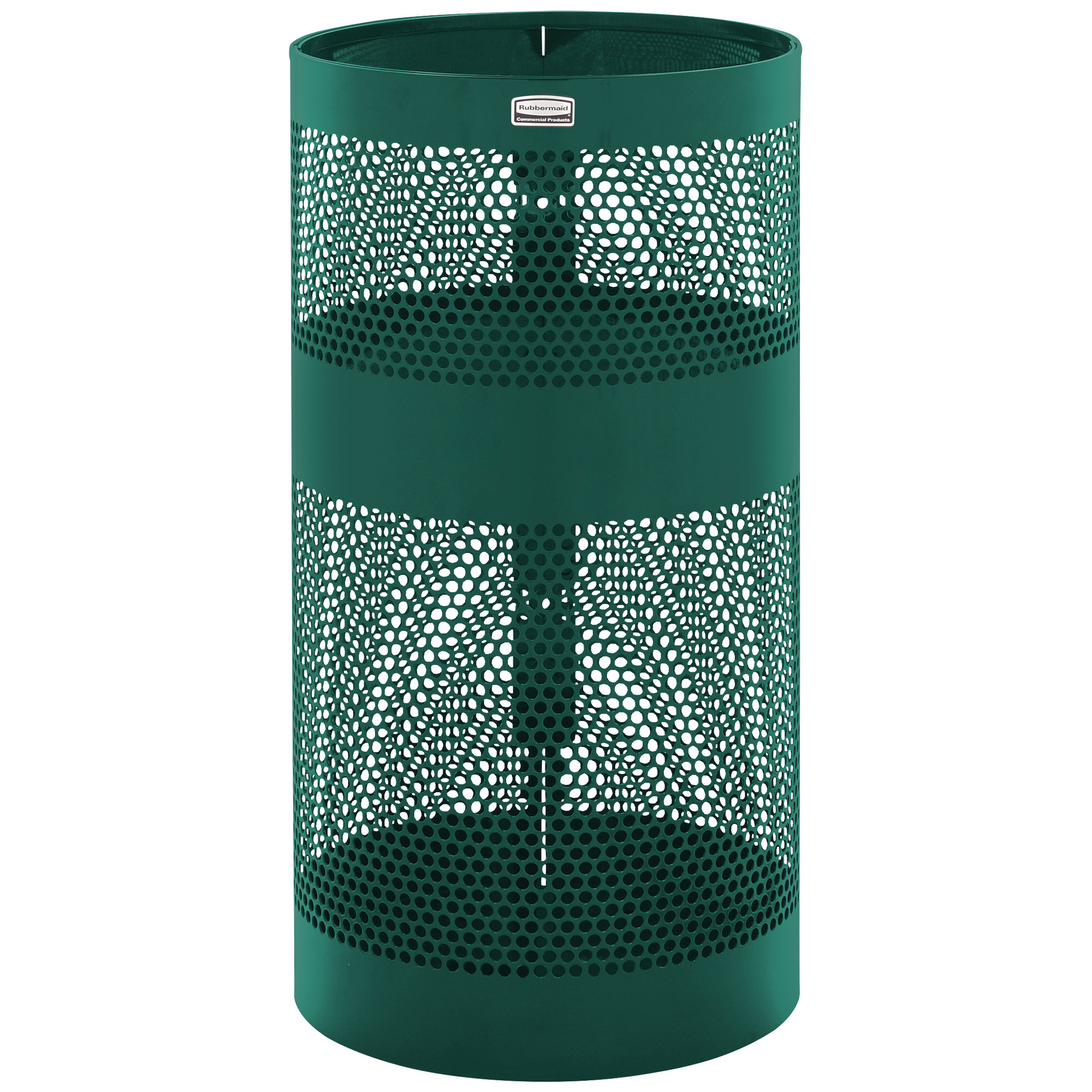 PERFORATED STEEL POLEWA LL MOUNTED; RECEPTACLE R