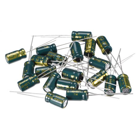 Aluminum Radial Electrolytic Capacitor Low ESR 10uF 100V 6.3x11mm 20pcs 100v Aluminum Electrolytic Capacitor