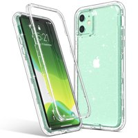 iPhone 11 Case, ULAK Clear Glitter Protective Heavy Duty Shockproof Rugged Protection Case Soft TPU Bumper Phone Cover Designed for Apple iPhone 11 6.1 inch, Clear Glitter