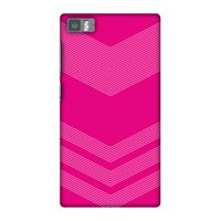 Xiaomi Mi 3 Case, Premium Handcrafted Designer Hard Shell Snap On Case Printed Back Cover with Screen Cleaning Kit for Xiaomi Mi 3, Slim, Protective - Carbon Fibre Redux Hot Pink 2