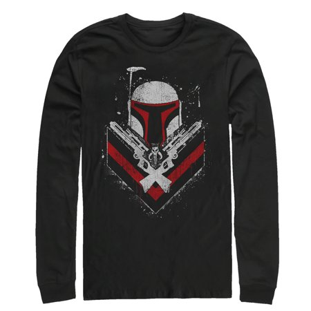 Star Wars Men's Boba Fett No Threats Only Promises Long Sleeve T-Shirt](Bubba Fett)