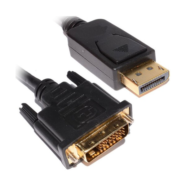 6 Feet DisplayPort Male to DVI Cable Male