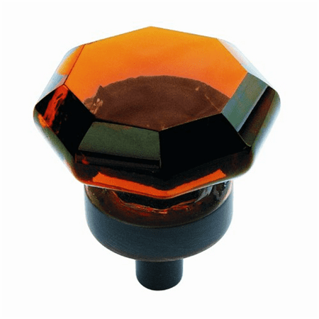 Amerock BP55266AORB Traditional Classics Amber Glass Knob with Base, Oil Rubbed Bronze, 1-Inch Amerock Traditional Classics Crystal