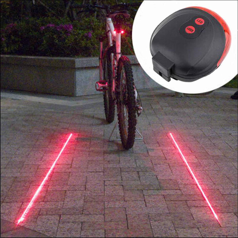 Bike Tail Light Safety Cycling Warning Night Rear Red LED Lamp Bicycle Fender