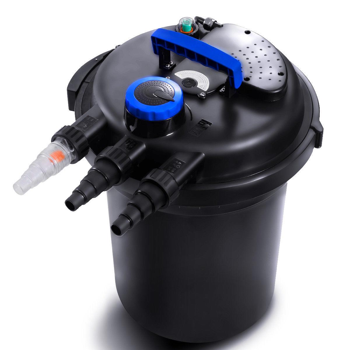 Costway Pond Pressure Bio Filter 4000GAL W/ 13W UV Sterilizer Light 10000L Koi Water