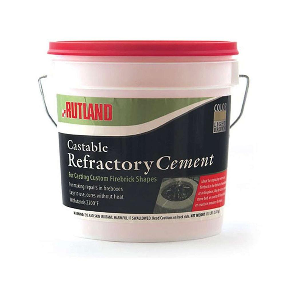 Fireplace Maintenance Products Rutland Refractory Cement Castable 2 Buckets Of 12 1/2 LBS Buff FCP600