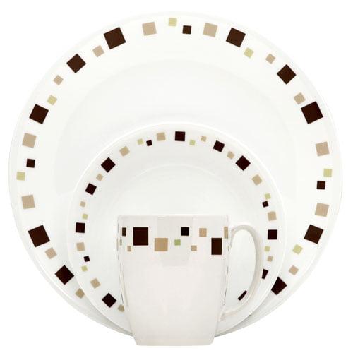 Corelle Livingware Geometric 16-Piece Dinnerware Set