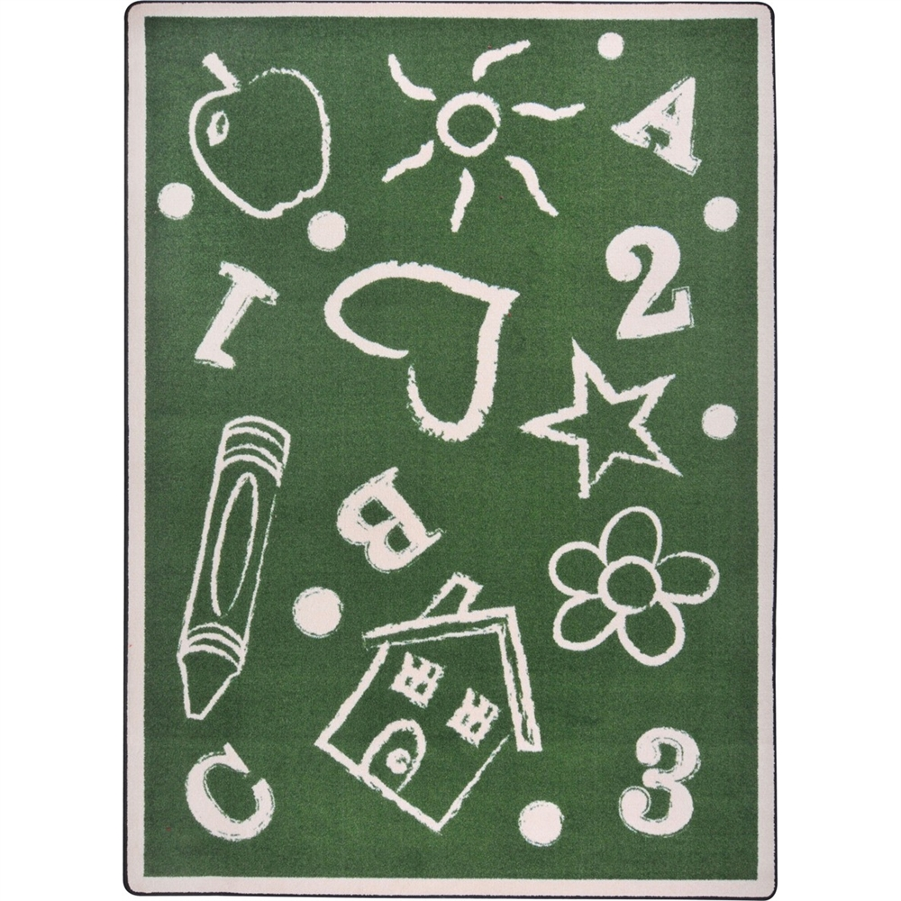 Joy Carpet Joy Rugs Kid's Art Machine Tufted  -  Cut Pile Green 10'9 x 13'2  -  Area Rug