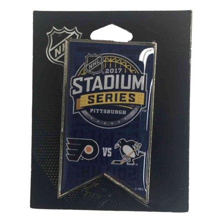 - Pittsburgh Penguins Philadelphia Flyers 2017 Stadium Series Dueling Banner Pin