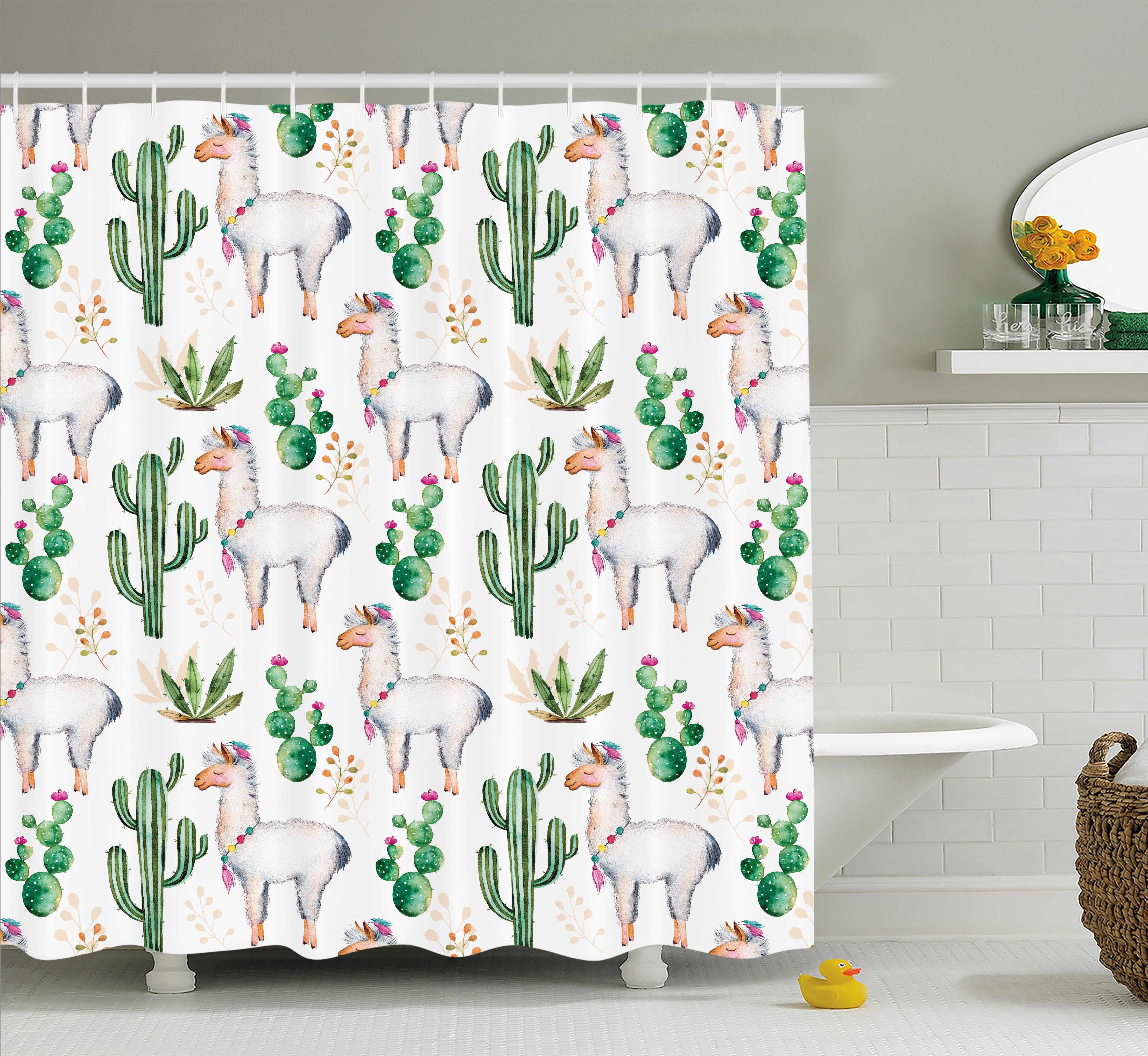 Superieur Cactus Shower Curtain, Hot South Desert Plant Cactus Pattern With Camel  Animal Modern Colored Image Print, Fabric Bathroom Set With Hooks,  Multicolor, ...