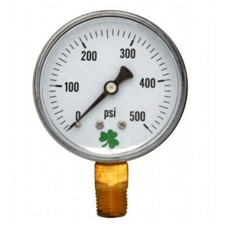 Zen-Tek DPG500 Dry Air Pressure Gauge, 500 PSI (Nos Pressure Gauge)