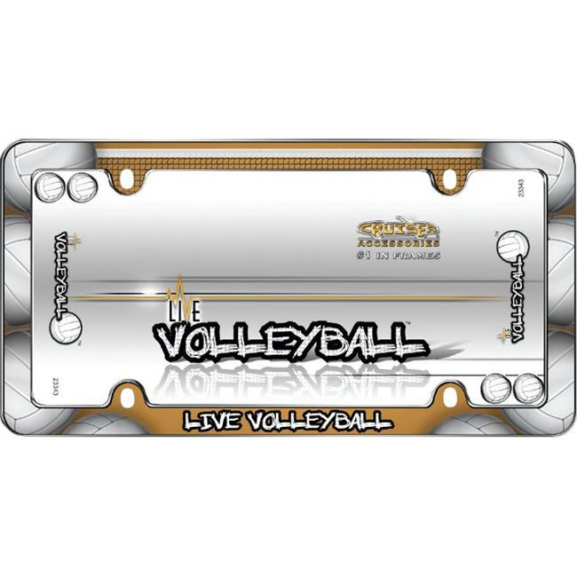 Cruiser Frames Live Volleyball License Frame, Chrome With Fastener Caps