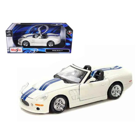 1999 Shelby Series 1 White W/Blue Stripes 1/18 Diecast Model Car by