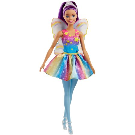 Barbie Dreamtopia Fairy Doll, Purple Hair - Fairy Wings To Decorate
