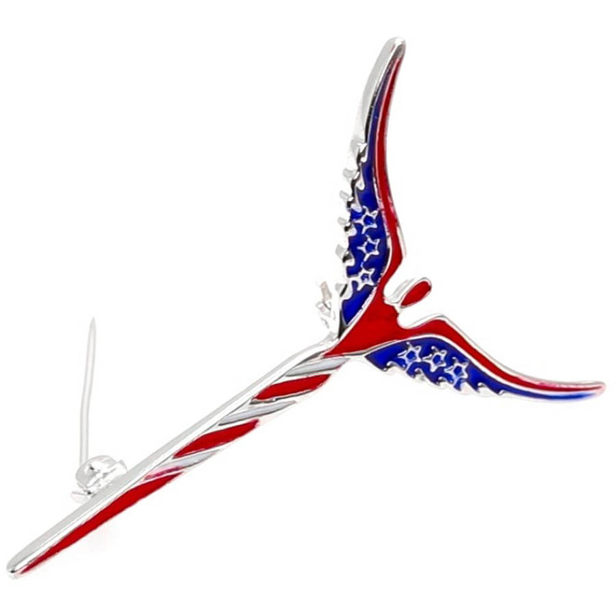 Lavaggi Jewelry Sterling Silver American Inspirational Angel Pin Patriotic Brooch, 925 Designer by Generic