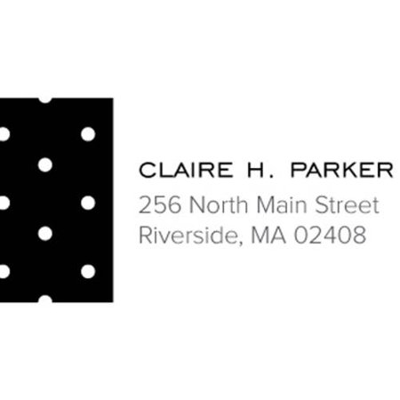 Dotted Personalized Address Label](Personalized Labels)