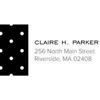 Dotted Personalized Address Label