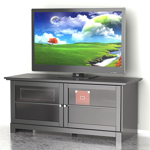 Nexera Pinnacle Black 2-Door TV Stand for TVs up to 56""