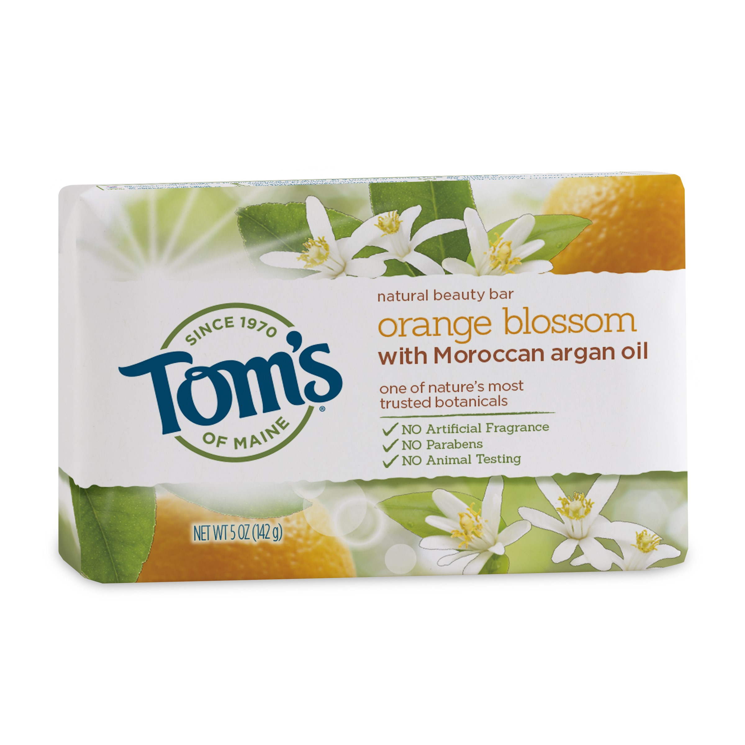 Tom's of Maine Beauty Bar Soaps, Orange, 5 Oz