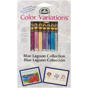 DMC Color Variations Floss Pack 8.7yd 8/Pkg-Blue Lagoon
