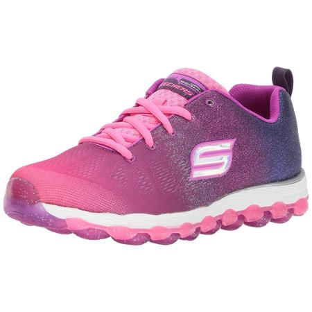 Skechers Kids Girls' Skech-Air Ultra-Sparkle City Sneaker, Hot Pink/Purple