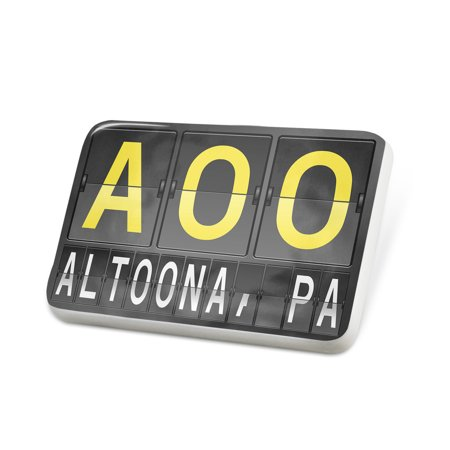Porcelein Pin AOO Airport Code for Altoona, PA Lapel Badge – NEONBLOND (Party City Altoona Pa)