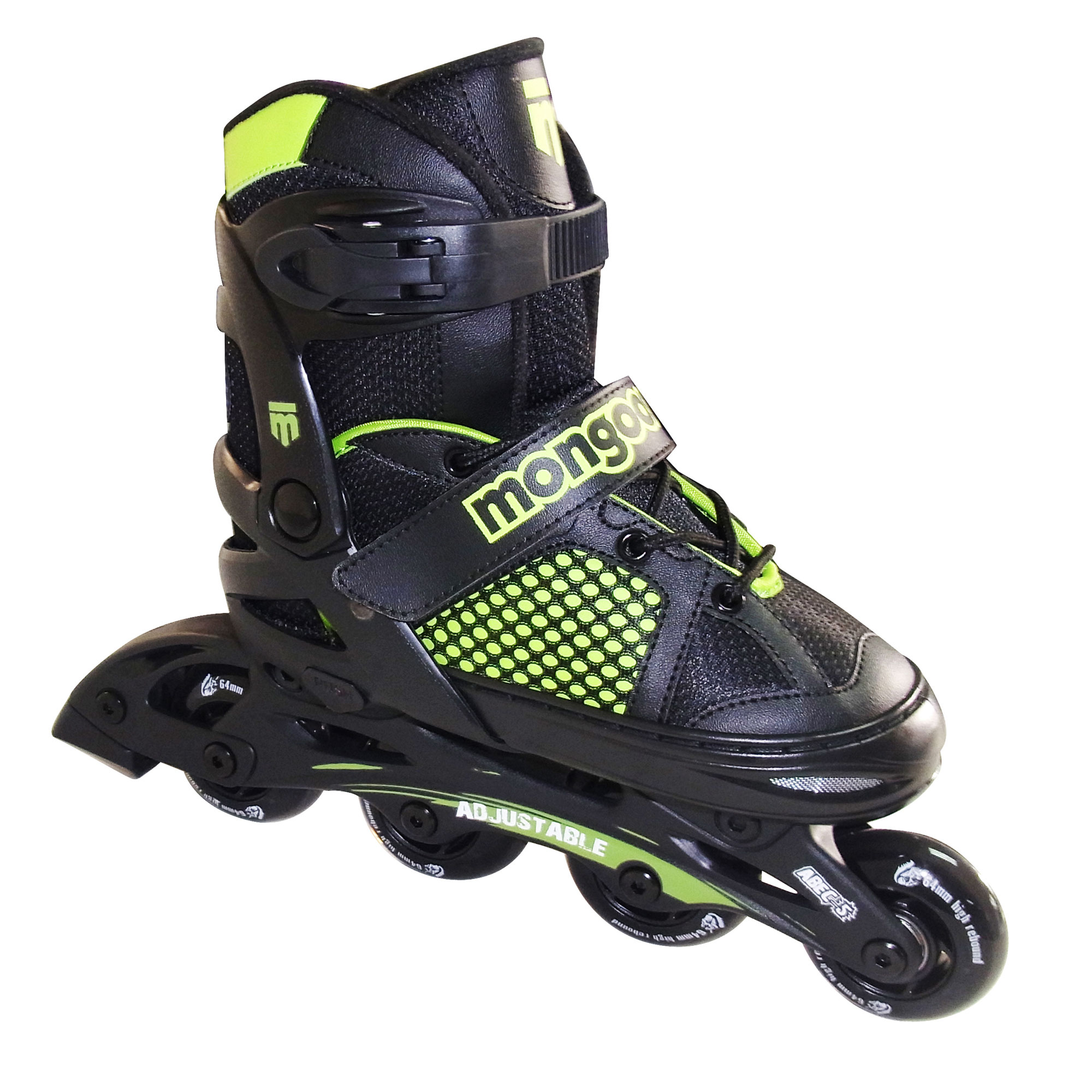 Mongoose MG-088B-S Boys' Size Small Comfortable Inline Rollerblade Skates, Green