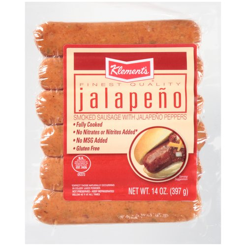 Klement's Jalapeno Smoked Sausage, 6 ct, 14 oz