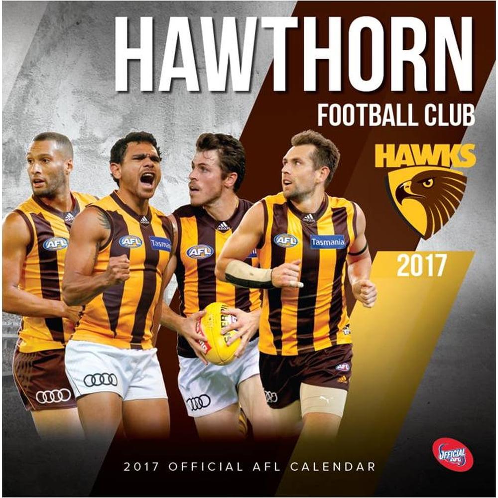 AFL Hawthorn Wall Calendar, 2017 Soccer, Lacrosse & AFL by Calendar Club Australia